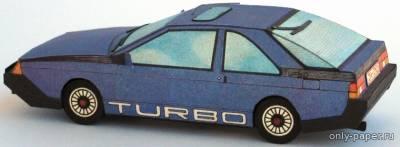Модель автомобиля Renault Fuego Turbo из бумаги/картона