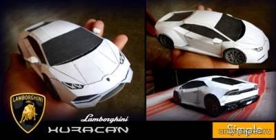 Модель автомобиля Lamborghini Veneno из бумаги/картона