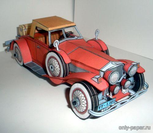 Модель автомобиля Duesenberg SJ Roadster из бумаги/картона