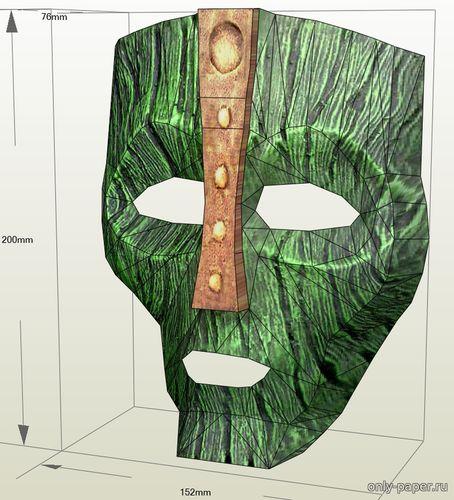 Модель маски Локи из бумаги/картона