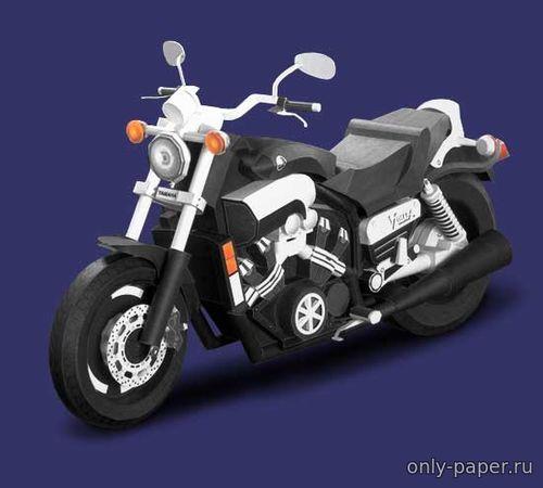 Модель мотоцикла Yamaha VMAX из бумаги/картона