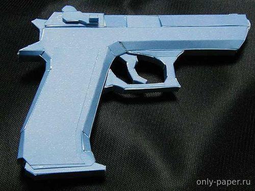 Модель пистолета Jericho 941 из бумаги/картона