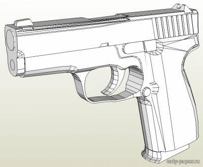 Модель пистолета Kahr K9 из бумаги/картона