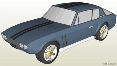 Модель автомашины Chrysler Jensen Interceptor 1971 из бумаги/картона
