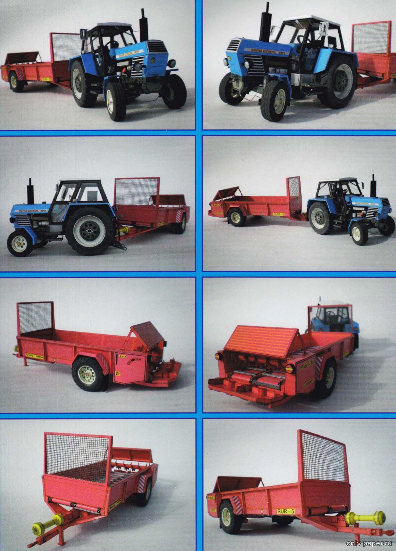 картинки трактора из бумаги которые