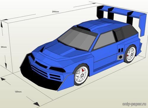 Модель автомашины Suzuki Cultus Pikes Peak 1993 из бумаги/картона