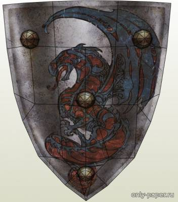 Бумажная модель Dark Messiah of Might and Magic - Full Size City Guard's Shield