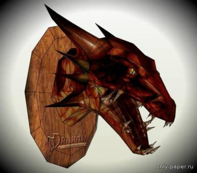 Бумажная модель Drakan - Arokh The Dragon Trophy