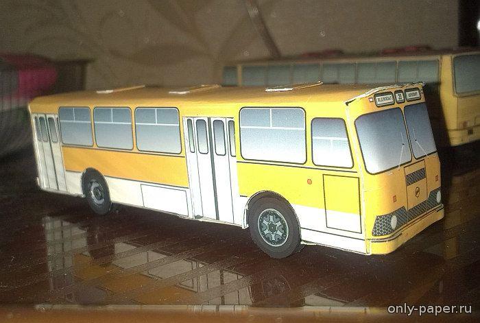 ЛиАЗ 677М / LiAZ 677M (11 вариантов раскраски) Pasha - Bobkow из бумаги, модели бумажные скачать бесплатно - Автобус - Гражданск