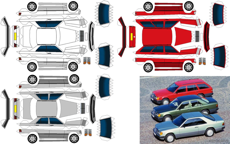 модели из цветной бумаги примеру, секторе