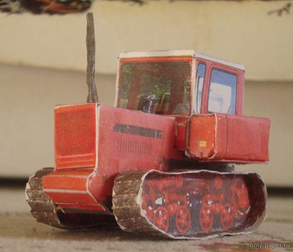 Схема трактора из бумаги фото 458
