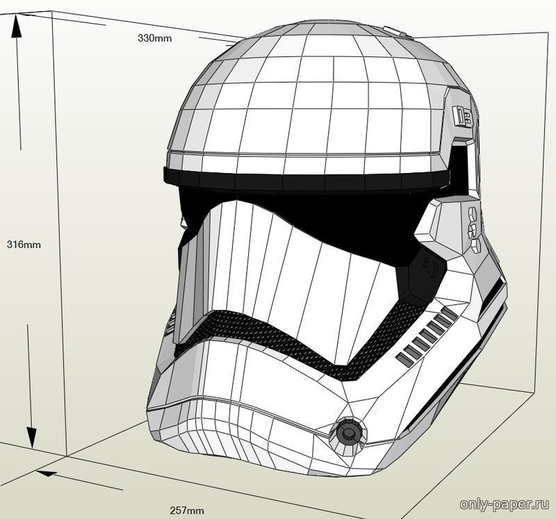 Star wars helmet template