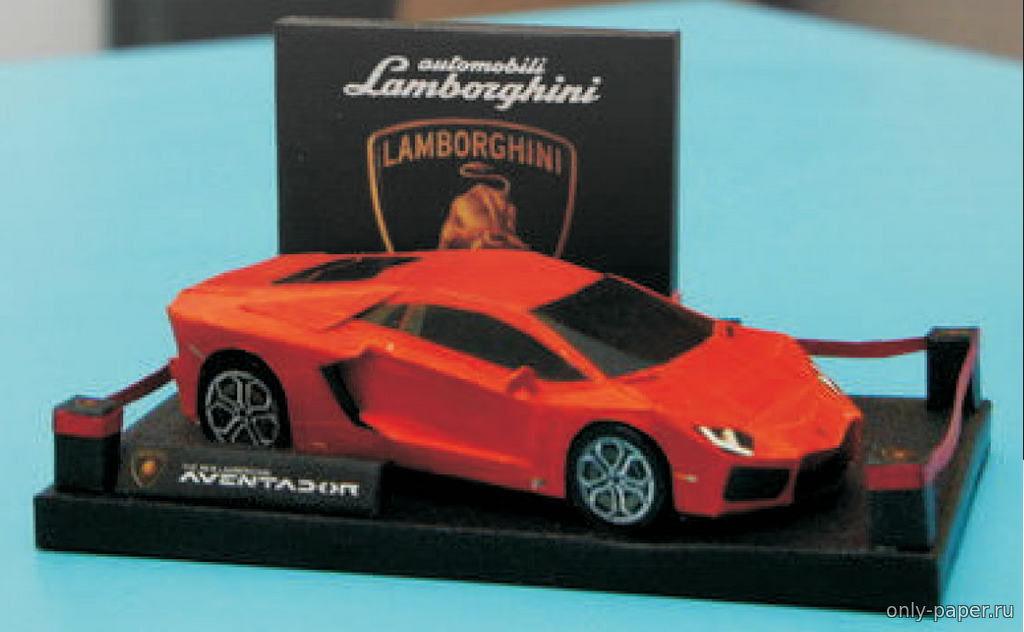 Lamborghini Aventador LP700-4 из бумаги, модели бумажные