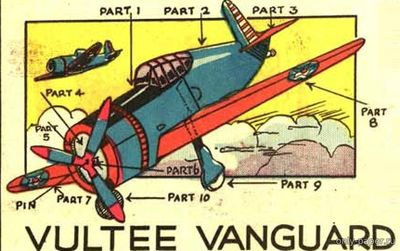 Бумажная модель Vultee P-66 Vanguard (Rigby's-MODELS)