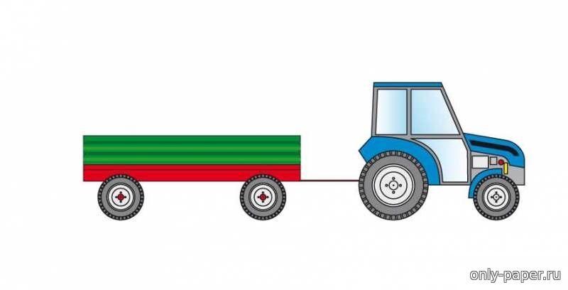 картинки трактора из бумаги вкусный