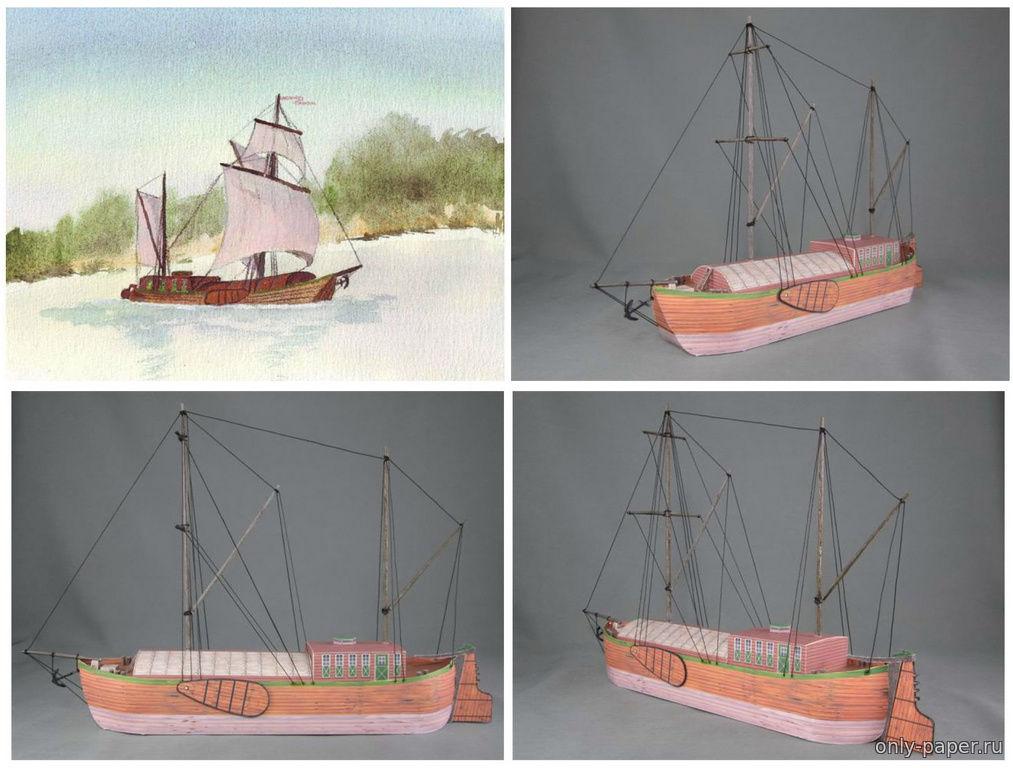 Модель корабля своими руками из картона 17