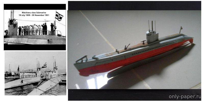 модели из бумаги подводных лодок
