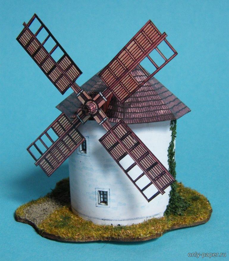 Ветряных мельницах из бумаги своими руками