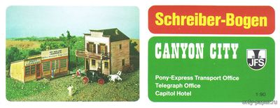 Бумажная модель Canyon City - Pony Express, Telegraph & Hotel (Schreiber-Bogen 71836)
