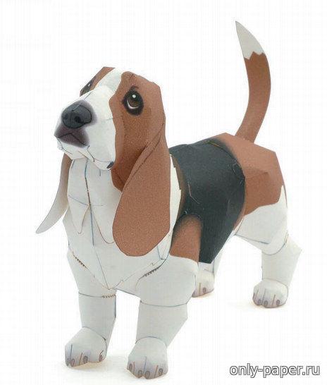 Схема бумажной собаки