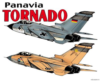 Бумажная модель Panavia Tornado (Fiddlers Green)