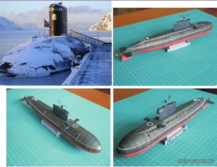 бумажное моделирование подводная лодка