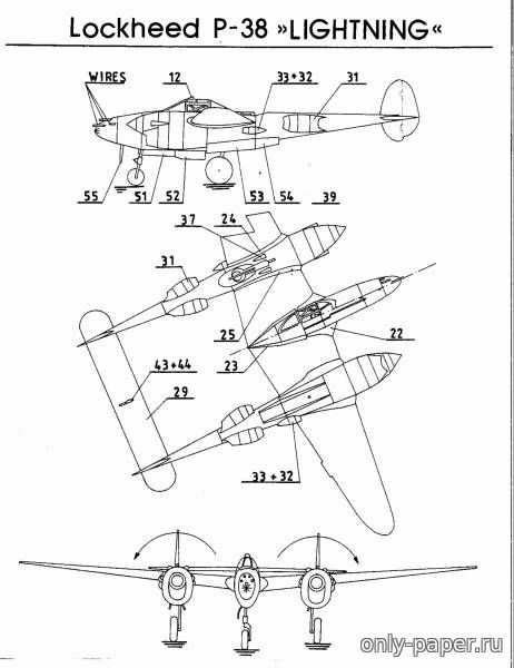 Diagram P 38 Lightning