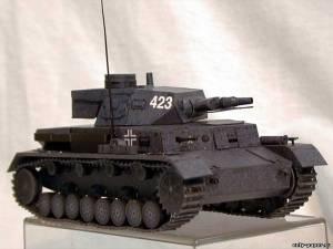 Модель танка Panzer Kampfwagen IV Ausf. D из бумаги/картона