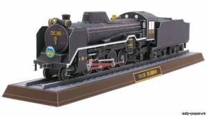 Модель паровоза D51 498 из бумаги/картона