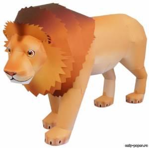 Бумажная модель льва