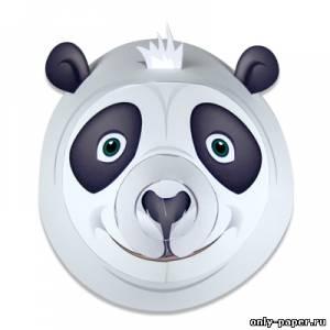 Модель маски Панды из бумаги/картона