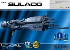 Модель космического корабля USS Sulaco из бумаги/картона