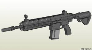 Бумажная модель Heckler & Koch HK416 Assault Rifle