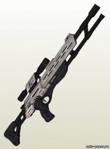 Бумажная модель M-97 Viper Sniper Rifle (Mass Effect)