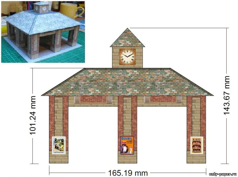 Дом из бумаги схемы распечатать 54
