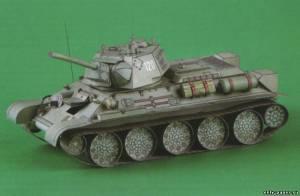 Бумажная модель танка Т-34/76