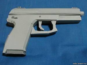 Модель полуавтоматического пистолета Heckler & Koch MK23 из бумаги