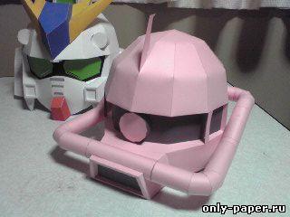 Как сделать шлем робота из бумаги