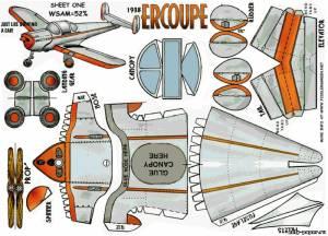 Модель самолета Ercoupe из бумаги/картона