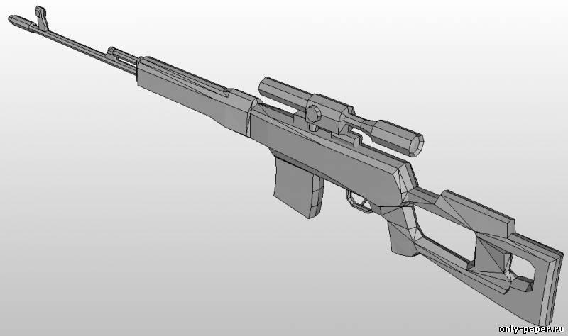 Макет винтовки свд своими руками 3