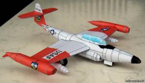 Бумажная модель Northrop F-89 Scorpion (Bob's Card Models)
