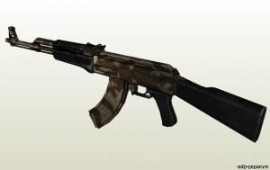 Бумажная модель автомата Калашникова АК-47