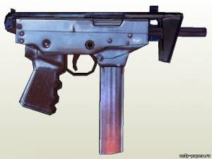 "Модель пистолета-пулемета ПП-91 ""Кедр"" из бумаги/картона"