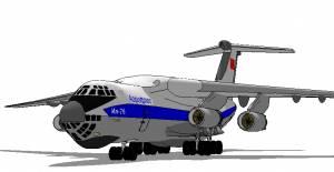 Модель самолета Ил-76 из бумаги/картона