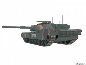 Бумажная модель танка M1A1 Abrams