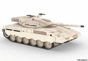 Модель танка Merkava Mk2 из бмаги/картона
