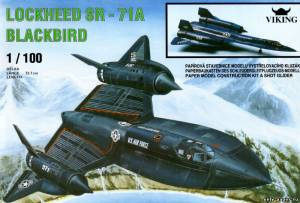 Модель самолета Lockheed SR-71A Blackbird из бумаги/картона