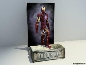 Модель Железного человека из бумаги/картона