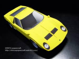 Бумажная модель Lamborghini Miura P400