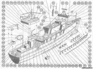 Модель исследовательского судна Жак-Ива Кусто